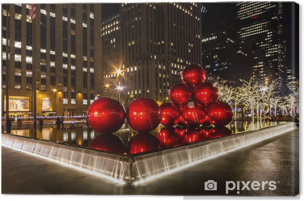 Leinwandbild New York Weihnachten - Amerika