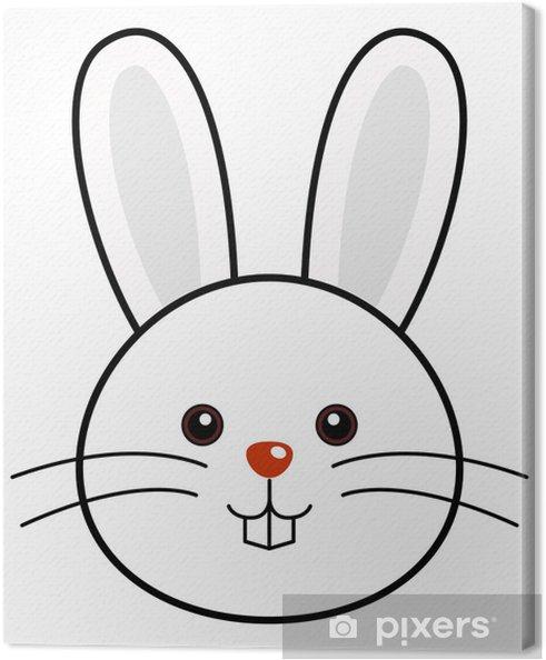 Leinwandbild Niedlichen Kaninchen Vektor - Säugetiere