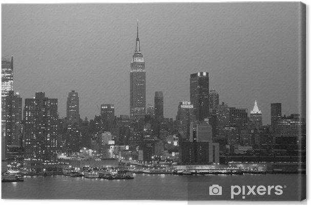 Leinwandbild Nightime New York City - New York