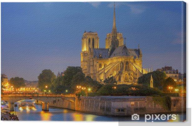 Leinwandbild Notre Dame de Paris bei Nacht - Themen