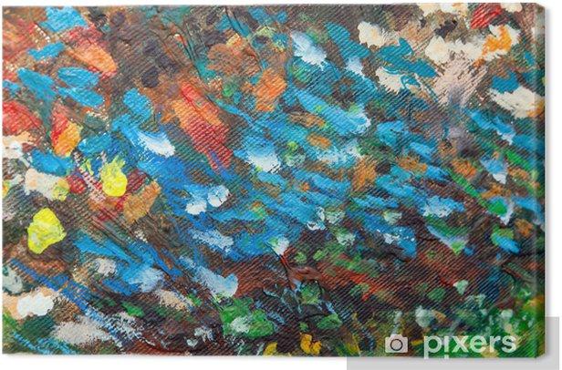 Leinwandbild Öl gemalt Hintergrund III - Kunst und Gestaltung