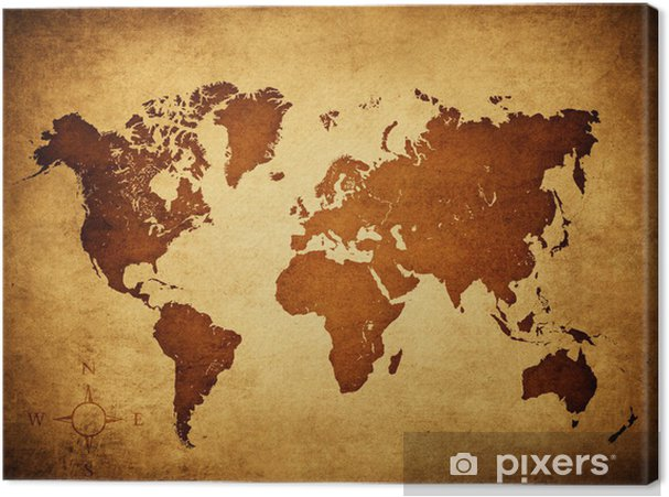 Leinwandbild Old world map • Pixers® - Wir leben, um zu verändern