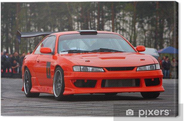 Leinwandbild Orange sport auto - Extremsport