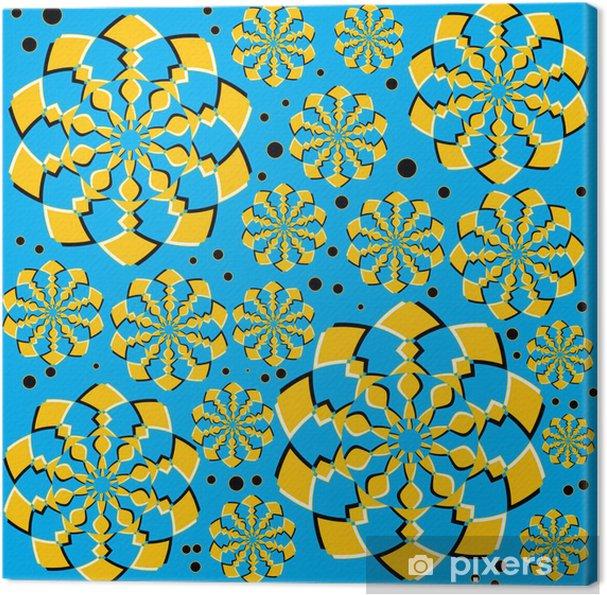 Leinwandbild Orange Twirlers (Motion Illusion) - Hintergründe