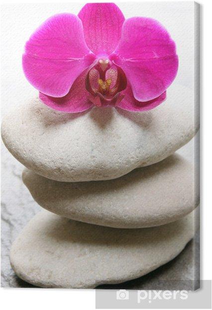 Leinwandbild Orchidee - Stile
