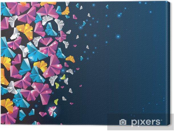 Leinwandbild Origami abstrakten Hintergrund. Papier-Schmetterling in den Himmel. - Sonstige Gefühle