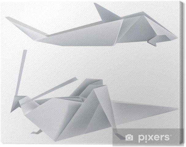 Leinwandbild Origami_grasshopper_shark - Andere Andere