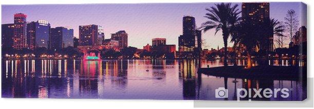 Leinwandbild Orlando Silhouette - Amerika