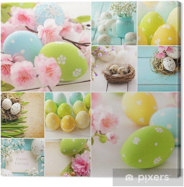Leinwandbild Ostern Collage - Internationale Feste