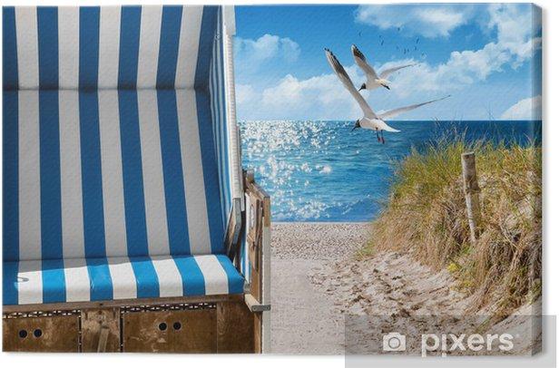 Leinwandbild Ostsee Strand - Urlaub