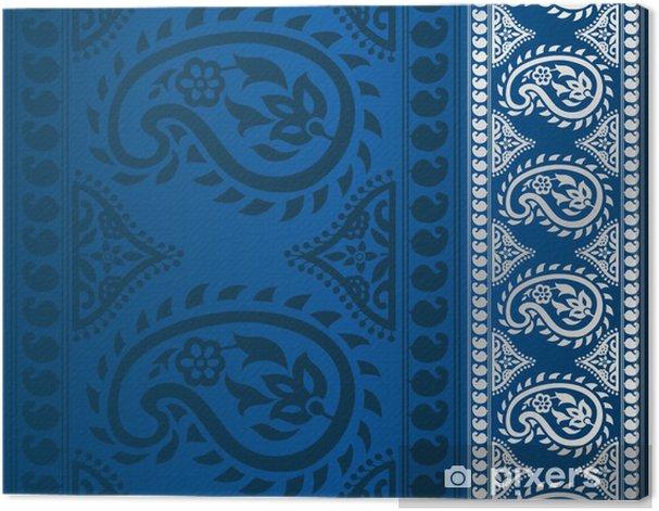 Leinwandbild Paisley Blumenmuster, Hochzeit Vorlage, royal India - Stile