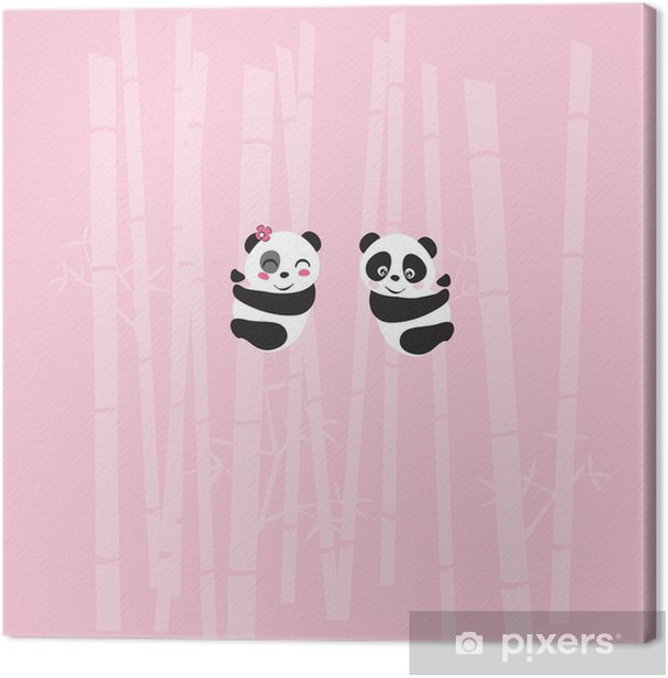 Leinwandbild Panda - Internationale Feste