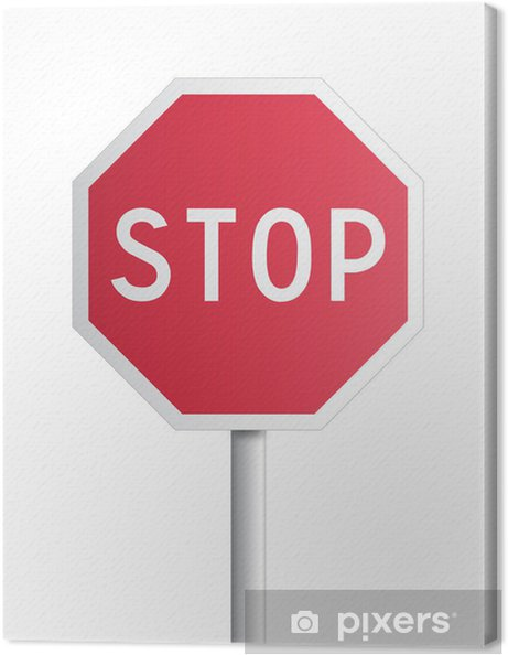 Leinwandbild Panneau - Stopp - Zeichen und Symbole