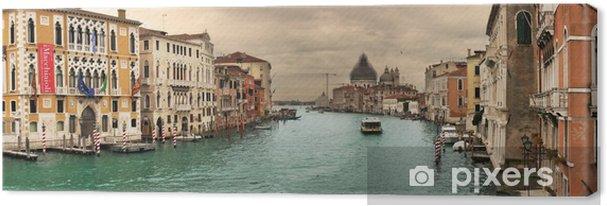 Leinwandbild Panorama-Blick auf den berühmten Canal Grande. - Themen