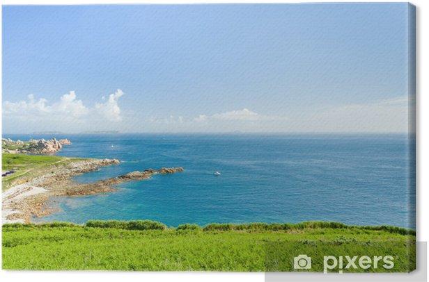 Leinwandbild Panorama der Cote d'Emeraude in Normandie, Frankreich - Europa