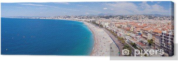 Leinwandbild Panorama Riviera - Nizza und Strand - Urlaub