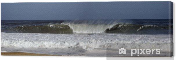 Leinwandbild Panorama surfen - Wasser