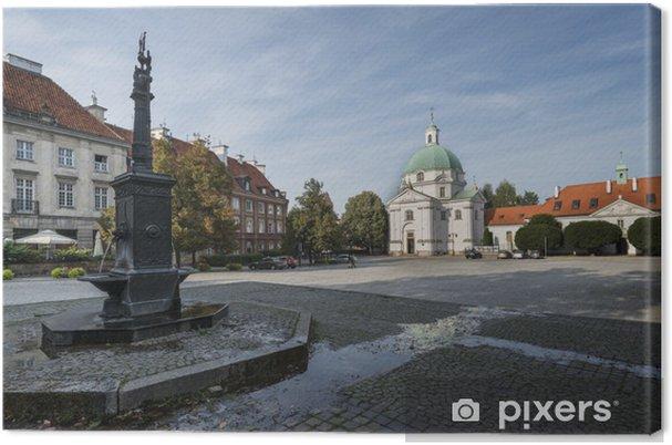 Leinwandbild Panorama von New Town Square in Warschau, Poalnd - Europäische Städte