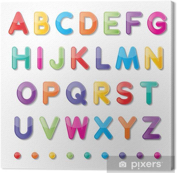 Leinwandbild Papiergroßbuchstaben - Ausbildung