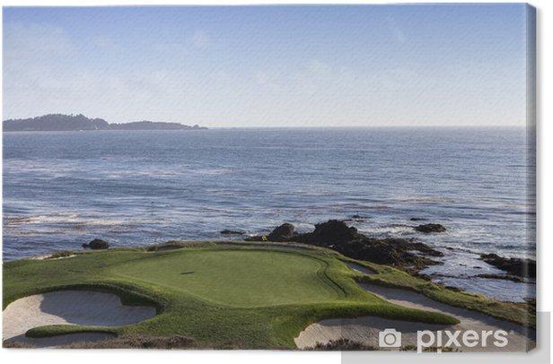 Leinwandbild Pebble Beach Golfplatz, Monterey, Kalifornien, USA - Themen
