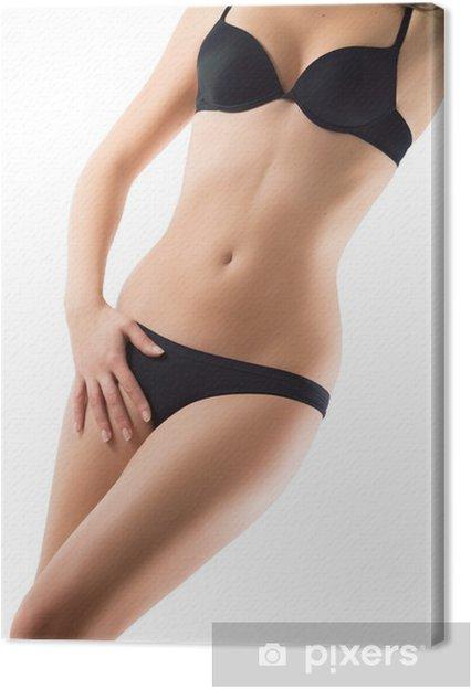 Leinwandbild Perfekten Körper Mädchen im Bikini - Unterwäsche