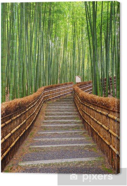 Leinwandbild Pfad Zum Bambuswald Arashiyama Kyoto Japan Pixers