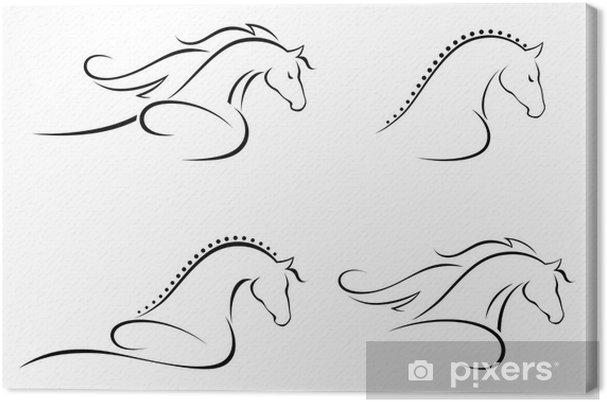 Leinwandbild Pferd Kopf. - Säugetiere