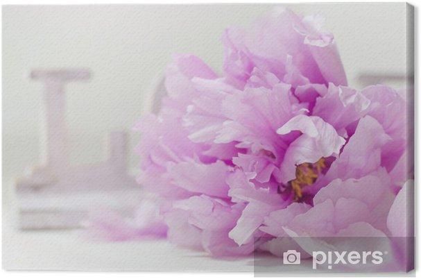 Leinwandbild Pfingstrose und der Liebe - Blumen