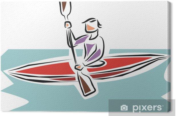 Leinwandbild Piragua - Einzelsportarten