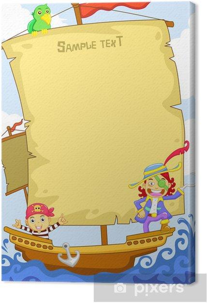Leinwandbild Pirat - Leben