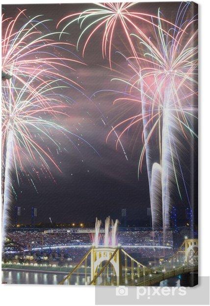 Leinwandbild Pittsburgh Fireworks - Amerika