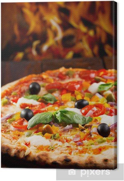Leinwandbild Pizza mit Gemüse - Themen