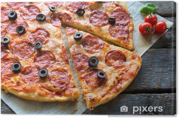 Leinwandbild Pizza Time Pixers Wir Leben Um Zu Verändern