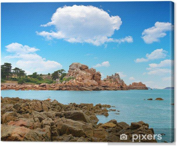 Leinwandbild Ploumanach, Côte de Granit Rose, Bretagne, Frankreich - Themen