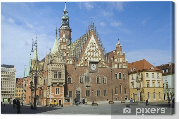 Leinwandbild Poland wroclaw town hall - Themen