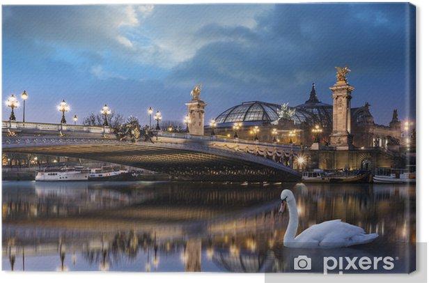 Leinwandbild Pont Alexandre III et Grand Palais - Europäische Städte