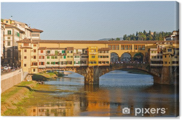 Leinwandbild Ponte Vecchio über den Arno in Florenz Italien - Europa