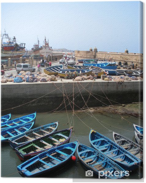 Leinwandbild Port de pêche d'Essaouira au Maroc - Afrika
