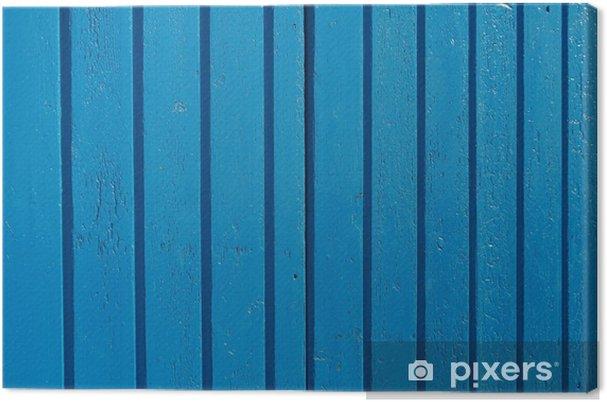 Leinwandbild Porta in legno azzurro