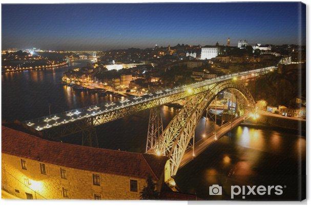Leinwandbild Porto Altstadt Nacht Sicht, Porto, Portugal - Europa