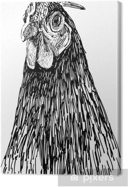 Leinwandbild Porträt von Henne - Themen