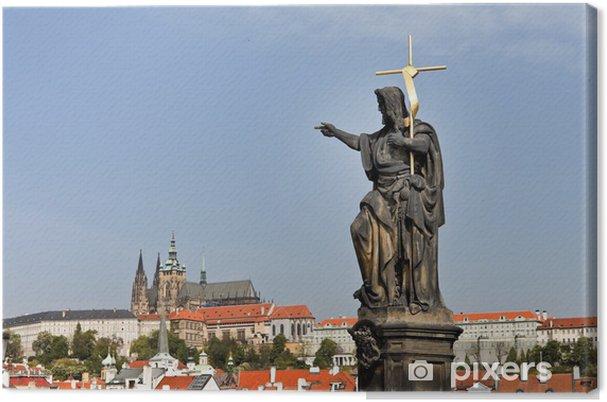 Leinwandbild Prag, Karlsbrücke mit Prager Burg und Hradcany -