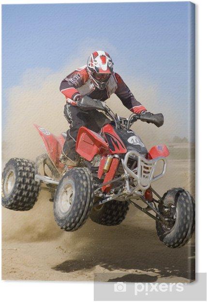Leinwandbild Quad rojo - Extremsport