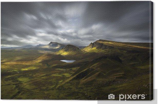 Leinwandbild Quiraing Ansicht, Schottland - Europa