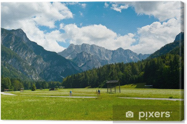 Leinwandbild Radfahren in Planica-Tal - Europa