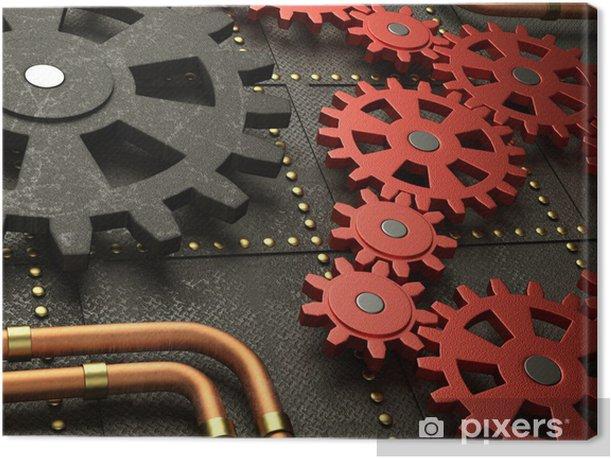Leinwandbild Red Räder Steampunk-Maschine - Steampunk