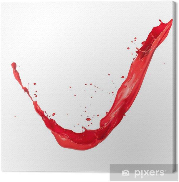 Leinwandbild Red splash - Vorlagen