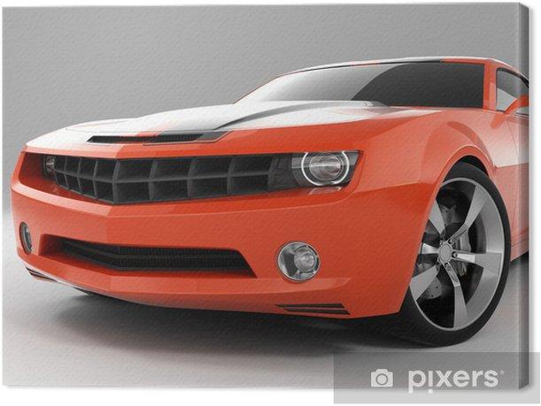 Leinwandbild Red sports car - Straßenverkehr
