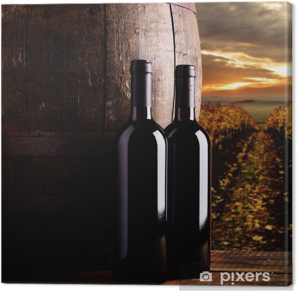 Leinwandbild Red wine - Themen