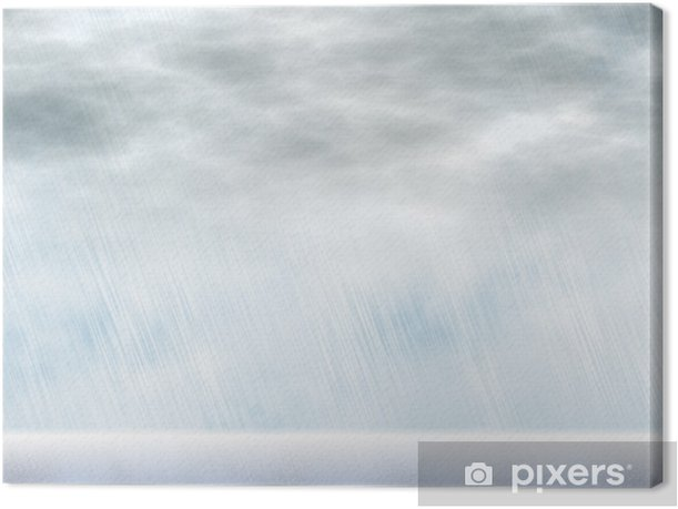 Leinwandbild Regen Sturm Hintergründe bei bewölktem Wetter - Himmel